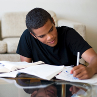 Teen Doing Homework