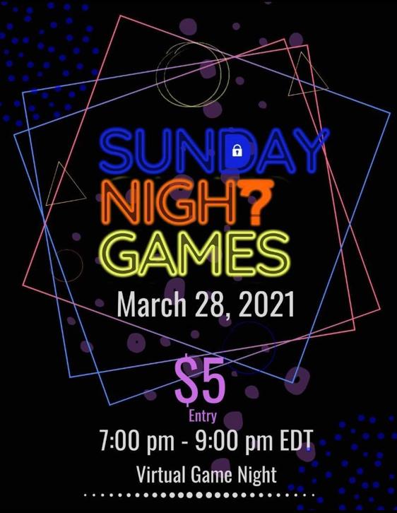 2021-03-28 — Sunday Night Games